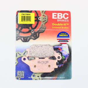 Brakecrafters Brake Pads 2007 - 2008 Kawasaki ZR1000 Z1000 - Rear EBC HH Rated Sintered Brake Pads - 1 Pair