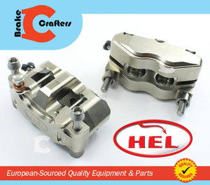 Brakecrafters  HEL PERFORMANCE 4 PISTON BILLET 100mm BRAKE CALIPERS