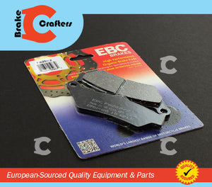 Brakecrafters Brake Pads 2004 - 2017 TRIUMPH ROCKET III - REAR EBC PERFORMANCE ORGANIC BRAKE PADS