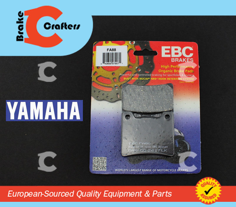 Brakecrafters Brake Pads 1999 - 2009 YAMAHA XVS1100 V-STAR - REAR EBC PERFORMANCE ORGANIC BRAKE PADS