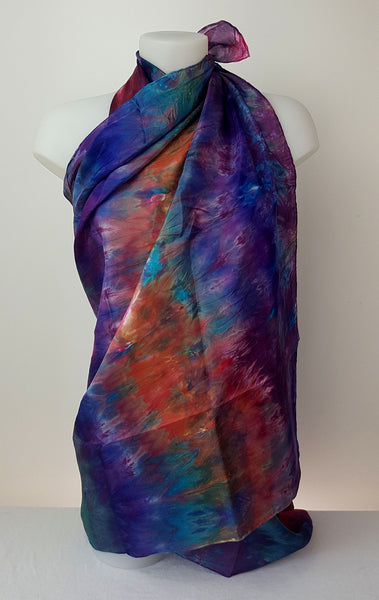 Colour Magic - large silk scarf in splash or vibrant colours