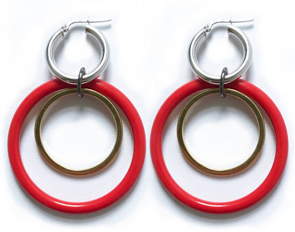 Double Down red hoops
