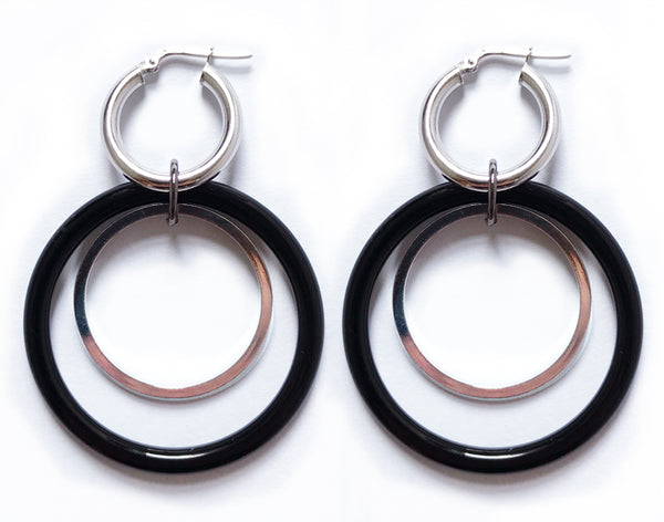 Double Down black hoops