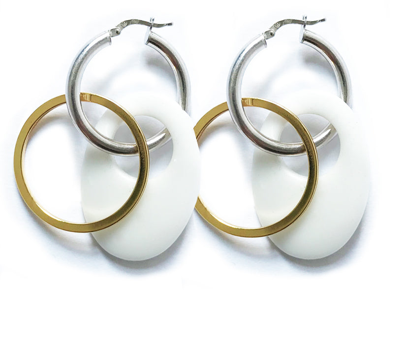 Ice hoops white