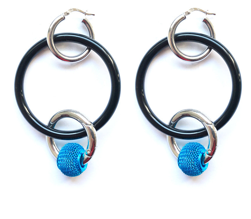"Bubble ""O"" Ring Hoops"