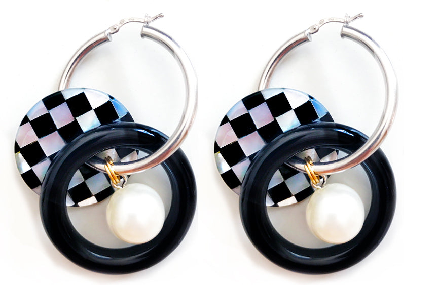 Checkers Pearl Hoops