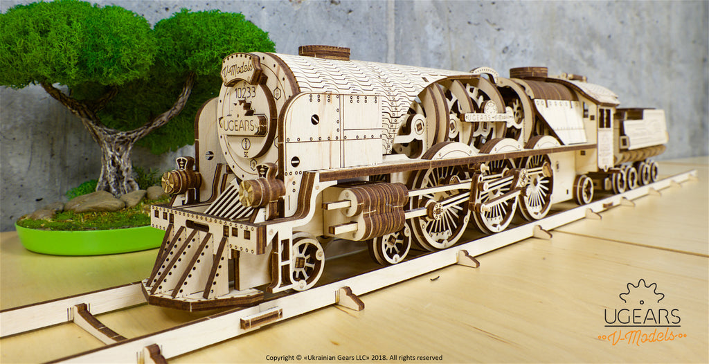 The V-Express Steam Train from Ugears - An Engineering Model Experience from a Bygone Age