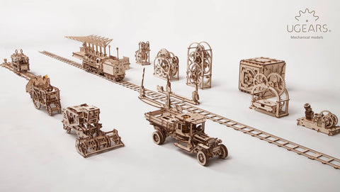 Collection of UGears Mechanical Models