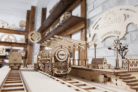 UGears Railway Platform Model