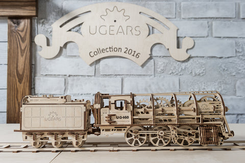 UGears Locomotive Model