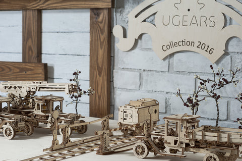 Ugears models Truck, Crossing and others