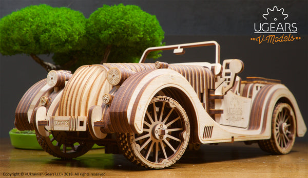 Roadster - build your own moving model by UGears - UGears