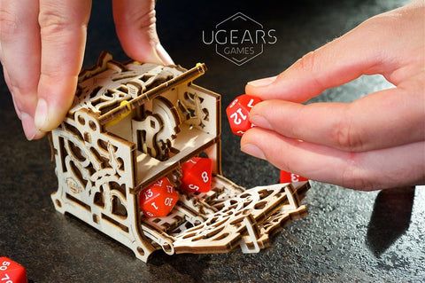 Dice Keeper by UGears Games -  wooden 3D puzzle model kit - UGears