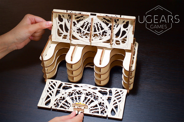 Card Holder by UGears Games -  wooden 3D puzzle model kit - UGears