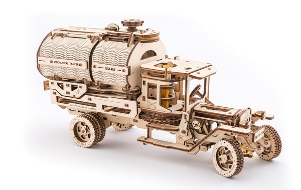 Tanker, Ladder and Trailer additions for Truck - build your own working models by UGears - UGears - 6