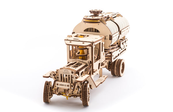tanker truck build your own moving model by ugears ugears unique self propelled mechanical. Black Bedroom Furniture Sets. Home Design Ideas