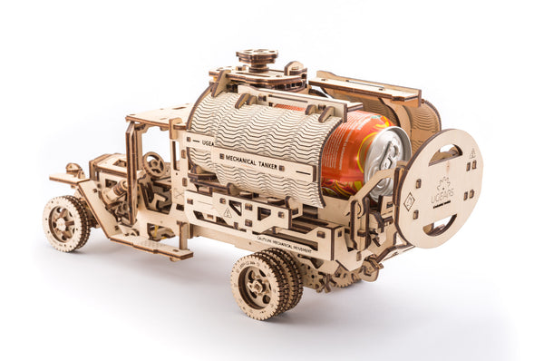 Tanker, Ladder and Trailer additions for Truck - build your own working models by UGears - UGears - 3