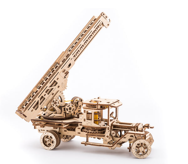 Tanker, Ladder and Trailer additions for Truck - build your own working models by UGears - UGears - 5