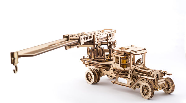 Tanker, Ladder and Trailer additions for Truck - build your own working models by UGears - UGears - 4