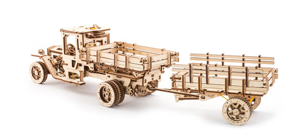 Tanker, Ladder and Trailer additions for Truck - build your own working models by UGears - UGears - 7