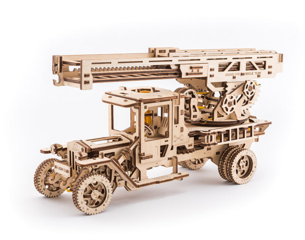 Tanker, Ladder and Trailer additions for Truck - build your own working models by UGears - UGears - 8