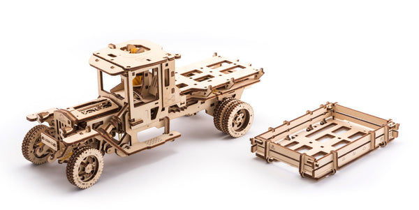 Tanker, Ladder and Trailer additions for Truck - build your own working models by UGears - UGears - 12