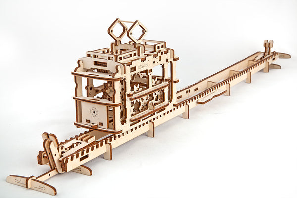 Tram - build your own moving model by UGears - UGears - 8