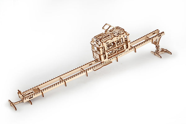 Tram - build your own moving model by UGears - UGears - 9