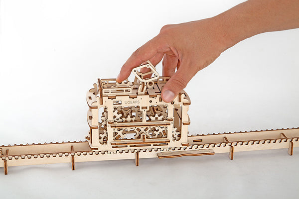 Tram - build your own moving model by UGears - UGears - 5