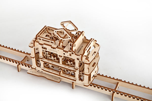 Tram - build your own moving model by UGears - UGears - 10