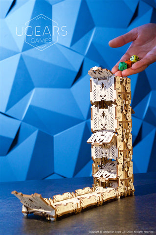 Modular Dice Tower  by UGears Games -  wooden 3D puzzle model kit - UGears