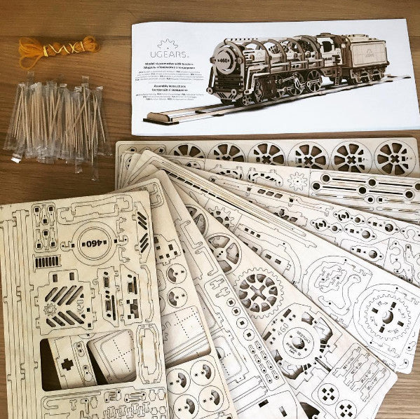 Steam Locomotive - build your own moving model by UGears - UGears - 2