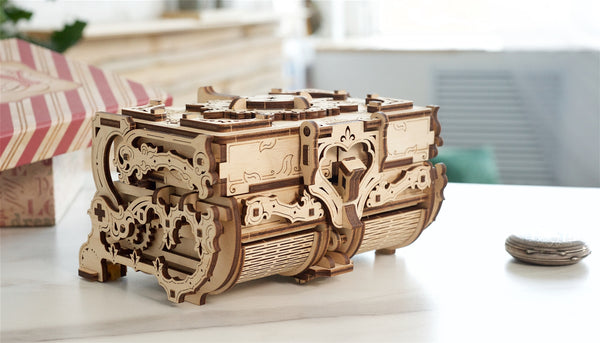 Antique box - with 8 compartments: Assemble Me. Fill Me Up by UGears - UGears