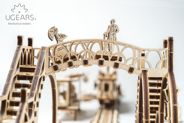 Tram line - build your own mechanical town by UGears