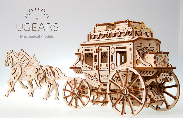 Stagecoach - build your own working model by UGears - UGears