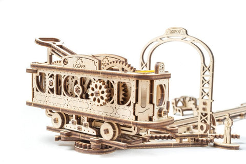 Tram line - build your own moving model by UGears Mechanical Town
