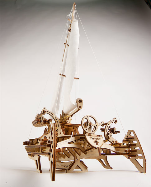 Trimaran Merihobus - build your own sailing boat by UGears - UGears
