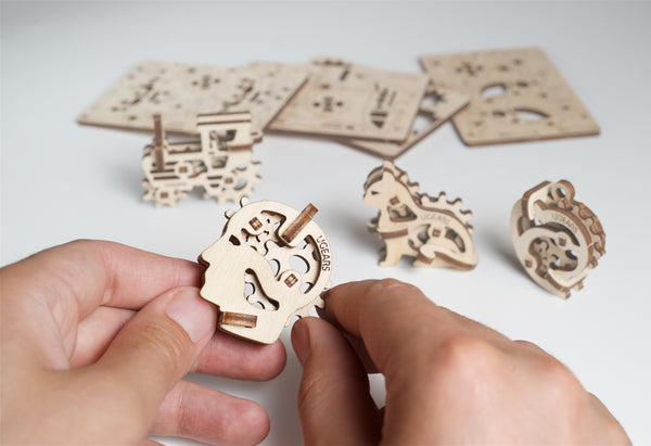 Tribka-Trinkets (4 PCS) - build your own moving model by UGears - UGears