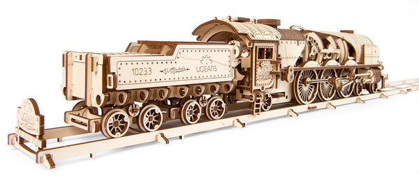 V-Express Steam Train by UGears - build your own moving engine - UGears