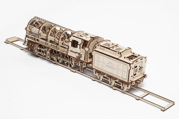 Steam Locomotive - build your own moving model by UGears - UGears - 6