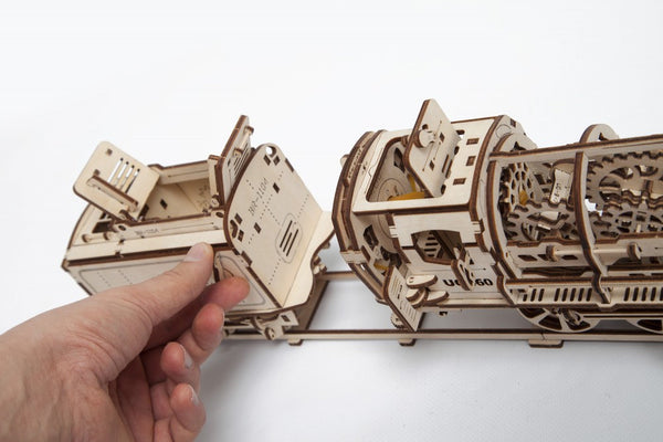 Steam Locomotive - build your own moving model by UGears - UGears - 7