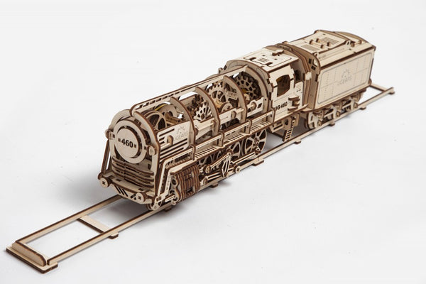 Steam Locomotive - build your own moving model by UGears - UGears - 1