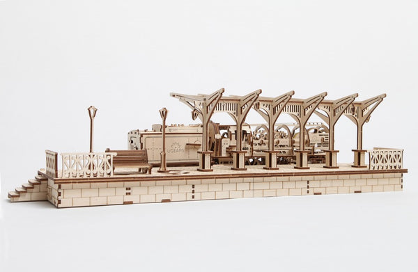 Railway Platform - build your own working model by UGears - UGears - 4
