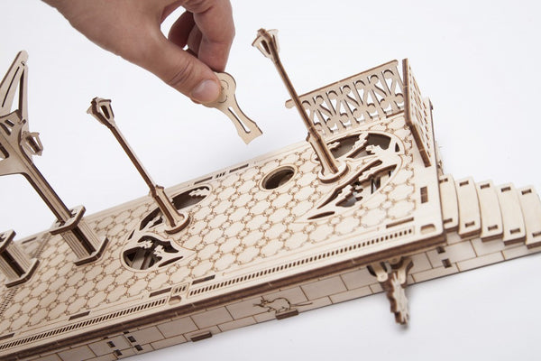 Railway Platform - build your own working model by UGears - UGears - 7