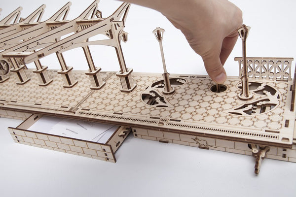 Railway Platform - build your own working model by UGears - UGears - 8