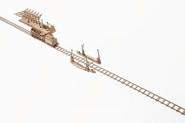 Rails and Crossing - build your own working model by UGears - UGears - 8