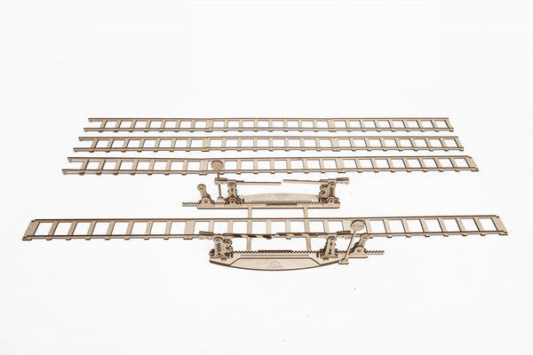 Rails and Crossing - build your own working model by UGears - UGears - 7