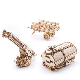 Tanker, Ladder and Trailer additions for Truck - build your own working models by UGears - UGears - 1