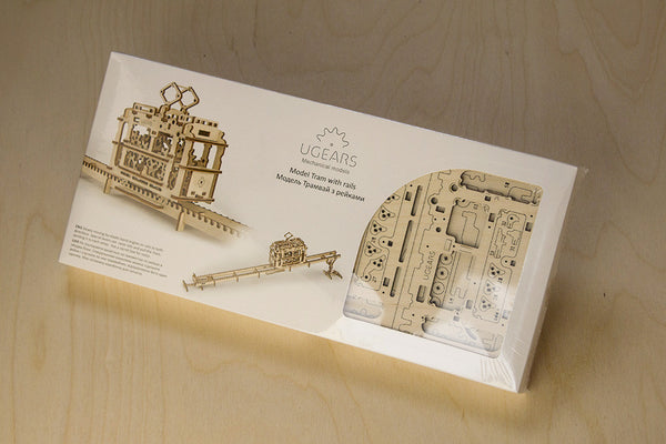 Tram - build your own moving model by UGears - UGears - 7