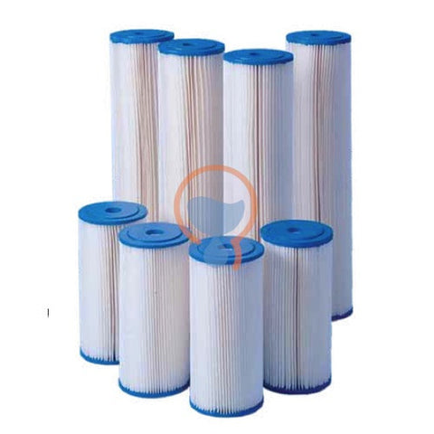 Harmsco HB-10-5W Calypso Blue Polyester Filter Cartridge